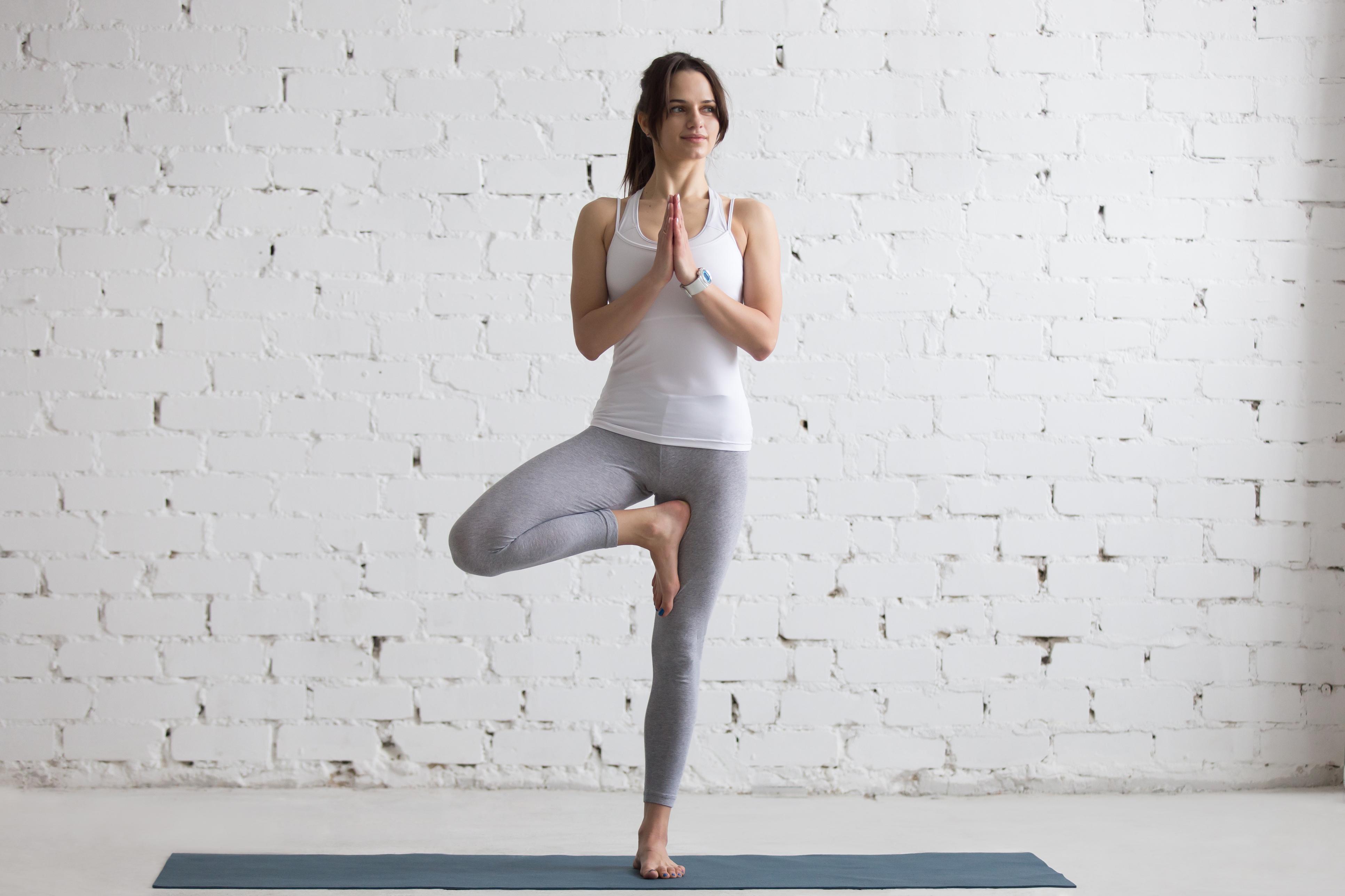 Yoga Indoors: Tree Pose