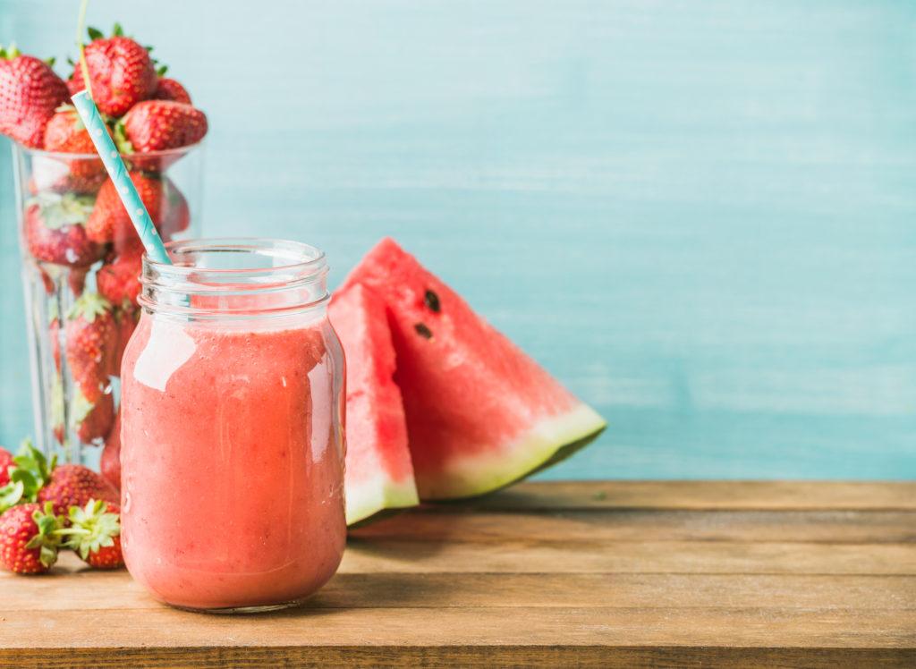 Freshly blended watermelon