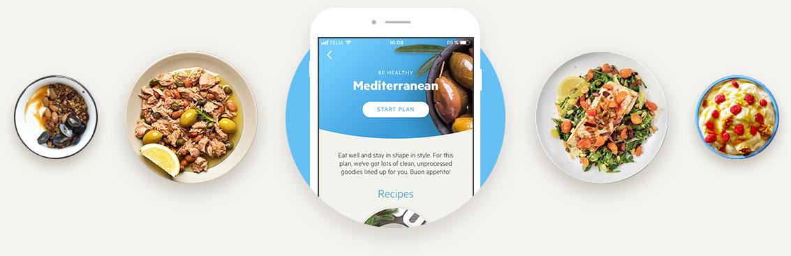 Mediterranean diet example dishes