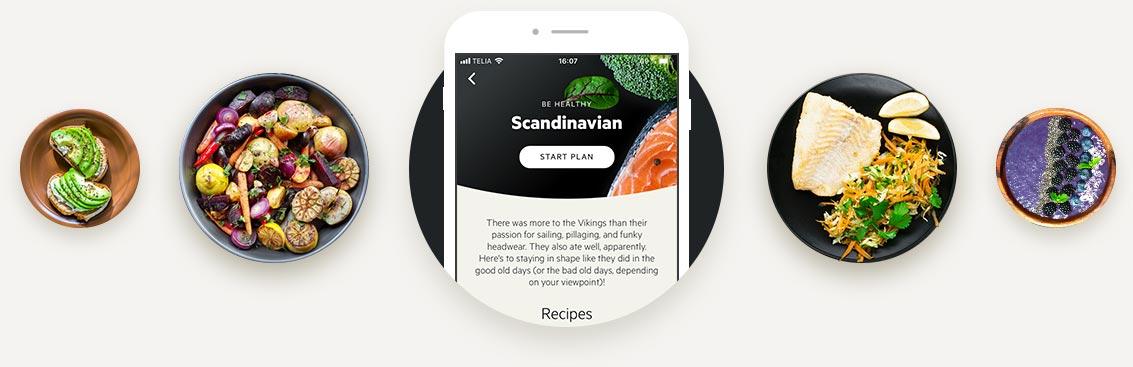 Scandinavian diet example dishes